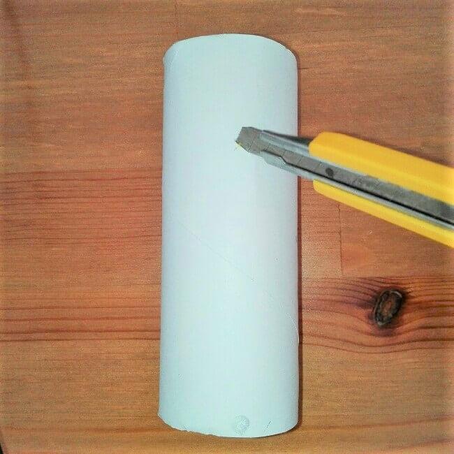 【弓矢を手作り】トイレットペーパー芯とストローで簡単に工作2