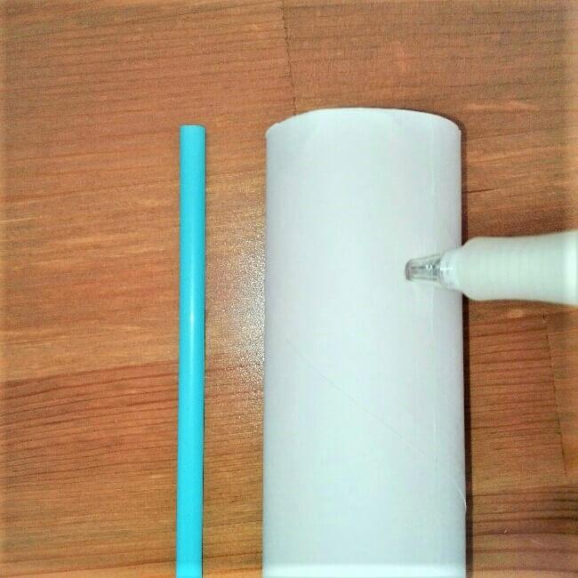 【弓矢を手作り】トイレットペーパー芯とストローで簡単に工作3