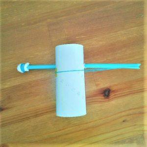 【弓矢を手作り】トイレットペーパー芯とストローで簡単に工作8