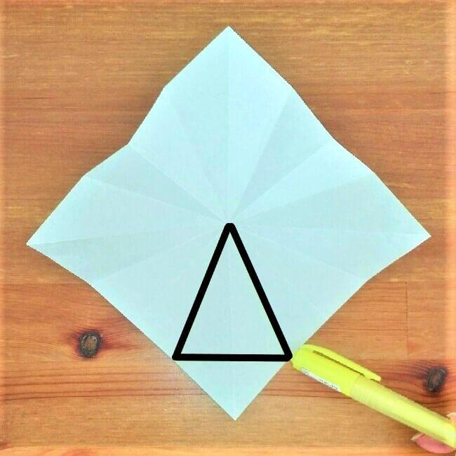 折り紙クリスマスツリー立体は難しい?【実は簡単!】折り方を紹介!10