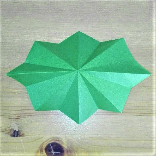 折り紙クリスマスツリー立体は難しい?【実は簡単!】折り方を紹介!12