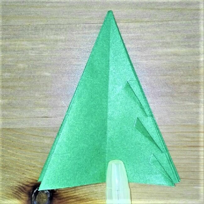 折り紙クリスマスツリー立体は難しい?【実は簡単!】折り方を紹介!15