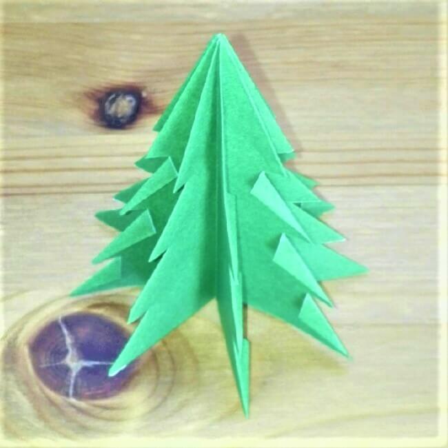 折り紙クリスマスツリー立体は難しい?【実は簡単!】折り方を紹介!16