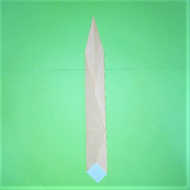 10-1折り紙【剣】の簡単な折り方|ヒーローごっごを楽しもう!