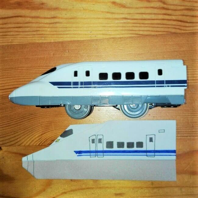 12折り紙【新幹線のぞみ700系】の簡単な折り方|子供と作ろう!