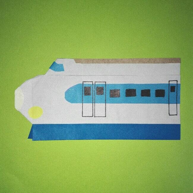 16折り紙【新幹線0系ひかり】の簡単な折り方|息子と楽しもう!