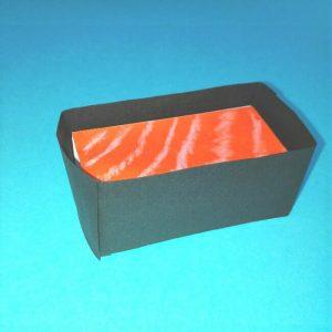 16折り紙お寿司【サーモン&いくら】立体の簡単な折り方・作り方