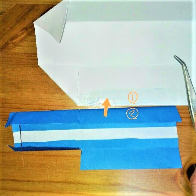 18-1 折り紙【新幹線こだま500系】立体の簡単な作り方