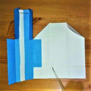 18-2 折り紙【新幹線こだま500系】立体の簡単な作り方