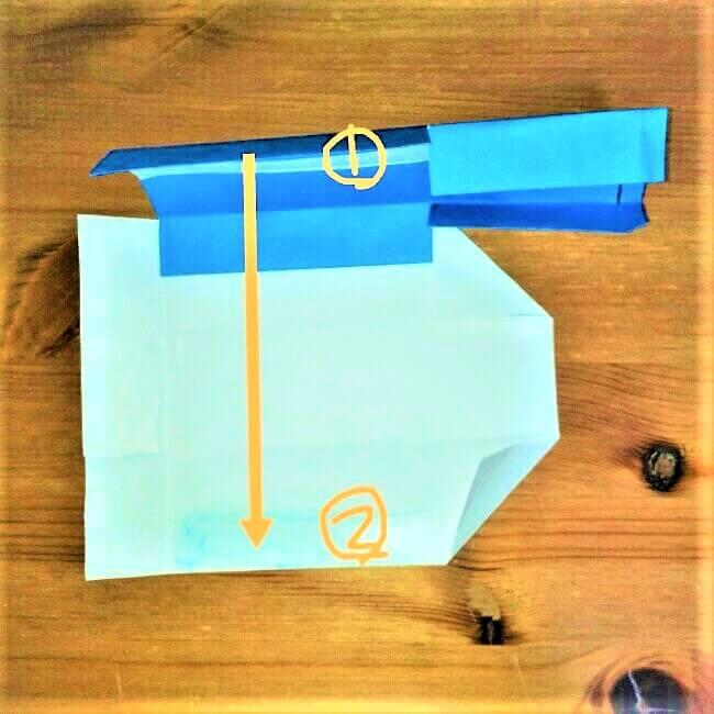 19-1 折り紙【新幹線こだま500系】立体の簡単な作り方