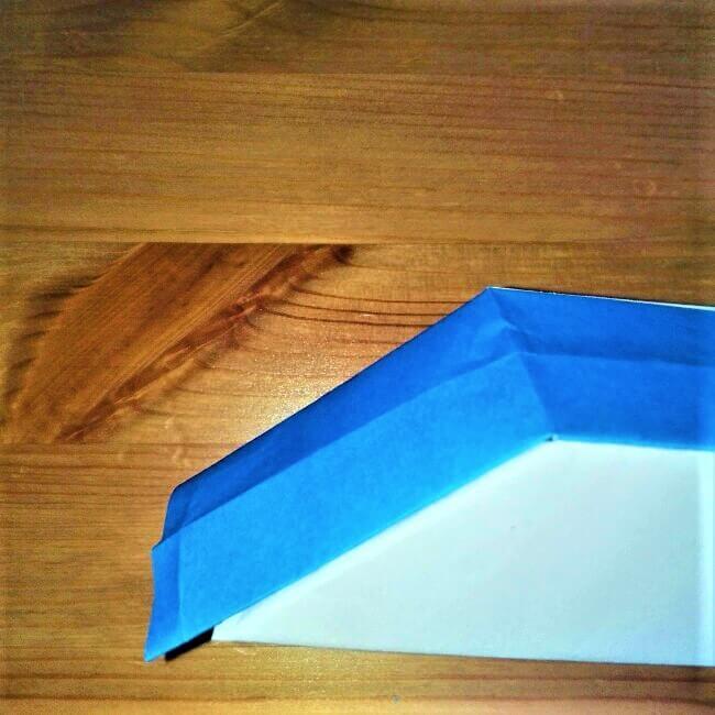 21-2 折り紙【新幹線こだま500系】立体の簡単な作り方