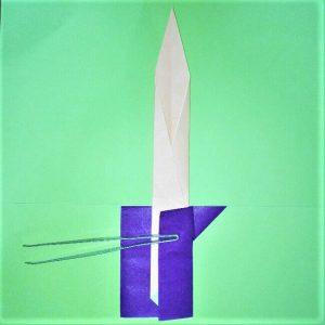 22折り紙【剣】の簡単な折り方|ヒーローごっごを楽しもう!