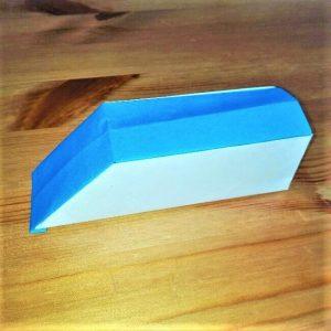 22-2 折り紙【新幹線こだま500系】立体の簡単な作り方