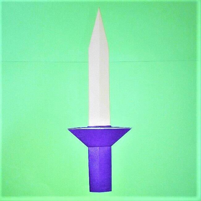 25折り紙【剣】の簡単な折り方|ヒーローごっごを楽しもう!