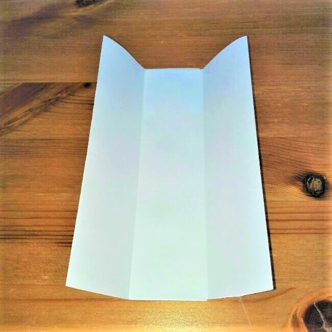 5-2 折り紙【新幹線こだま500系】立体の簡単な作り方