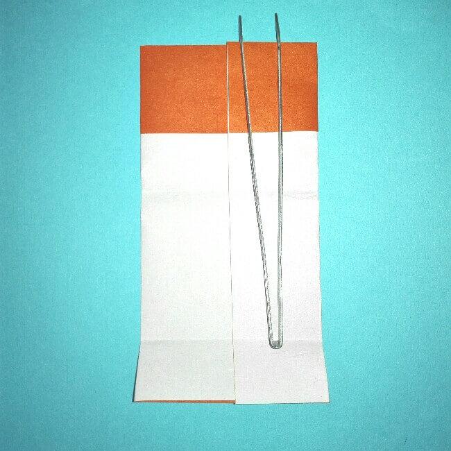 8折り紙お寿司【サーモン&いくら】立体の簡単な折り方・作り方