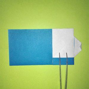 9折り紙【新幹線0系ひかり】の簡単な折り方 息子と楽しもう!