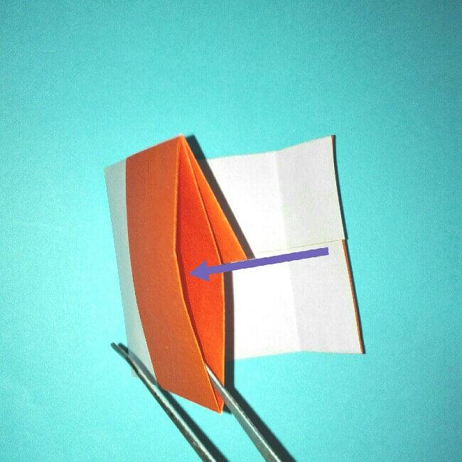 9折り紙お寿司【サーモン&いくら】立体の簡単な折り方・作り方