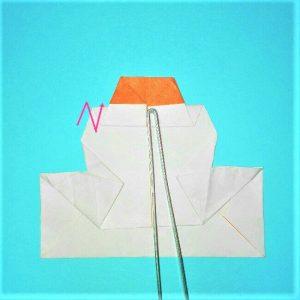 10-1折り紙【お正月の鏡餅】の簡単な折り方子供と楽しもう!
