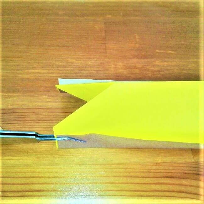 11折り紙新幹線【ドクターイエロー】の折り方|簡単です!