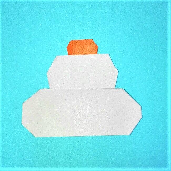 12折り紙【お正月の鏡餅】の簡単な折り方子供と楽しもう!