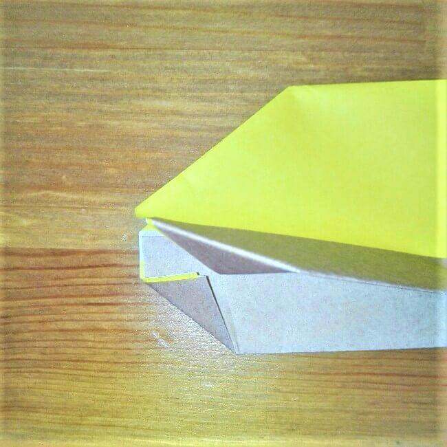 13折り紙新幹線【ドクターイエロー】の折り方|簡単です!