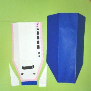 13折り紙新幹線【E4系】立体の簡単なな折り方|子供もにこにこ!