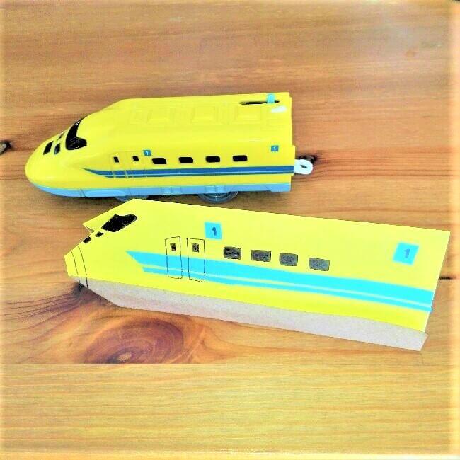 15折り紙新幹線【ドクターイエロー】の折り方|簡単です!