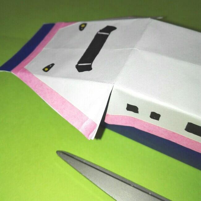 17折り紙新幹線【E4系】立体の簡単なな折り方|子供もにこにこ!