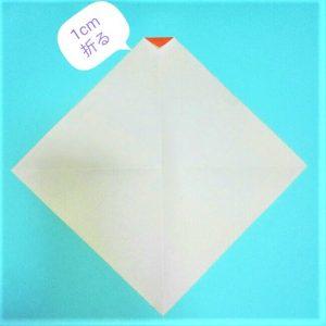 2折り紙【お正月の鏡餅】の簡単な折り方子供と楽しもう!