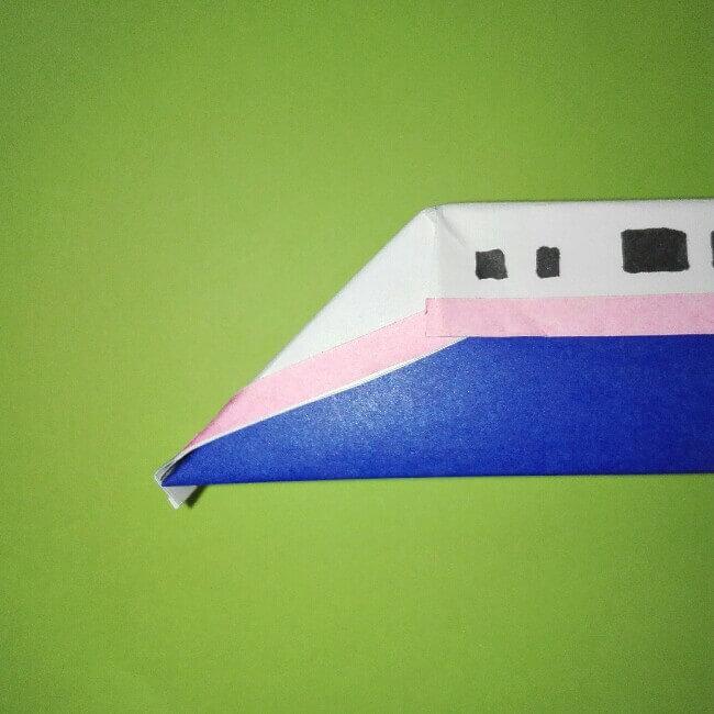 22-2折り紙新幹線【E4系】立体の簡単なな折り方|子供もにこにこ!