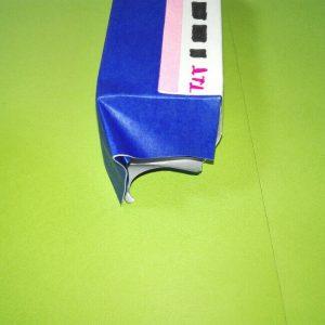 23-1折り紙新幹線【E4系】立体の簡単なな折り方|子供もにこにこ!