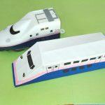 折り紙新幹線【E4系】立体の簡単な折り方|子供もニコニコ!