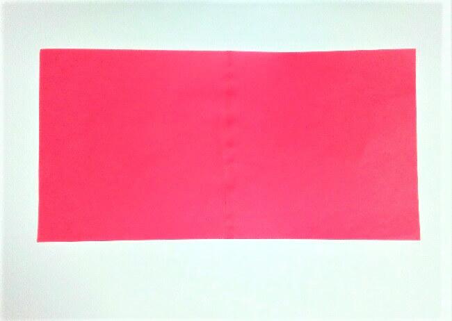 折り紙の折り方+苺バッグ 1
