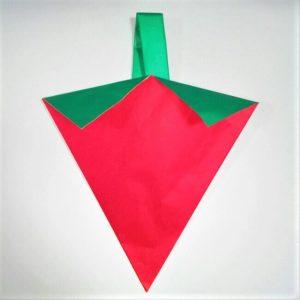 折り紙の折り方+苺バッグ 10