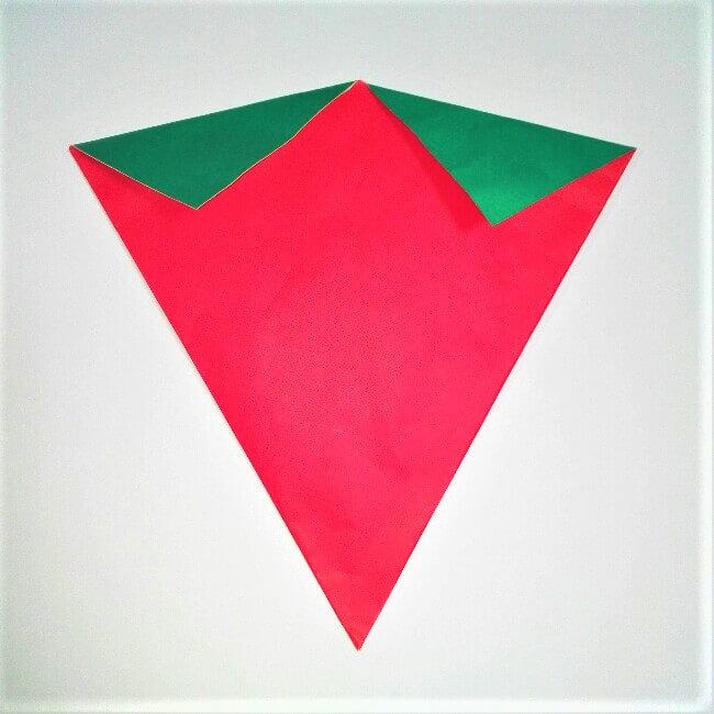 折り紙の折り方+苺バッグ 6-2