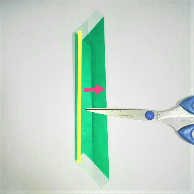 折り紙の折り方+苺バッグ 8-2