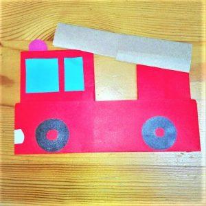 折り紙の折り方+消防車 26