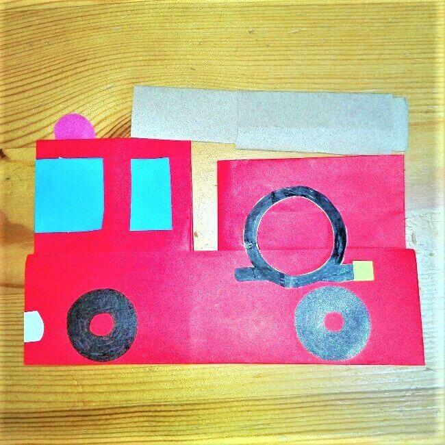 折り紙の折り方+消防車 27