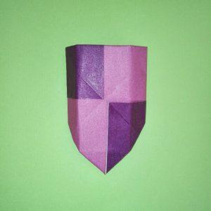 折り紙の折り方+盾 10