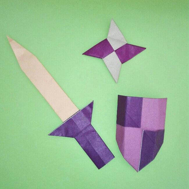 折り紙の折り方+盾 11
