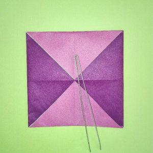 折り紙の折り方+盾 4