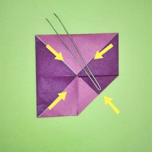 折り紙の折り方+盾 5-1