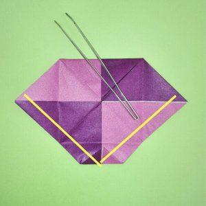 折り紙の折り方+盾 7-1