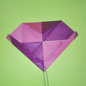 折り紙の折り方+盾 7-2