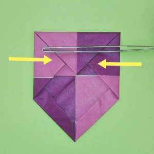 折り紙の折り方+盾 8-1