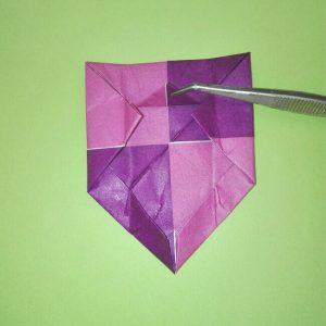 折り紙の折り方+盾 9