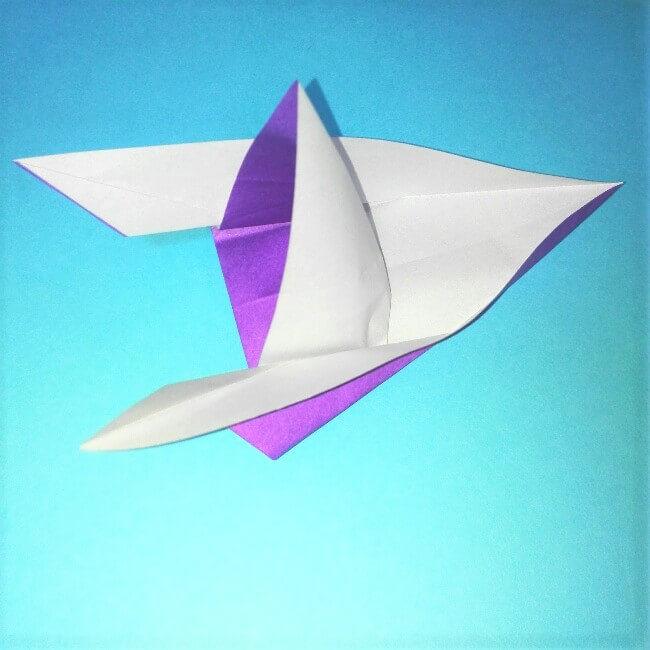 折り紙の折り方+ウィンドボート10