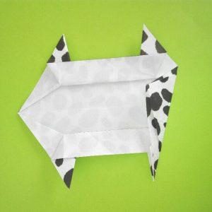 折り紙の折り方+ウシ 10-1