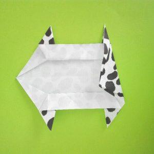折り紙の折り方+ウシ 10-2